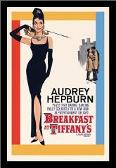 Audrey Hepburn - Breakfast At Tiffanys art print poster with simple frame