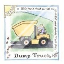 Dump Truck art print poster with laminate