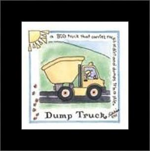 Dump Truck art print poster with simple frame
