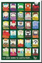 South Park Quotes art print poster with block mounting
