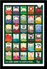 South Park Quotes art print poster with simple frame