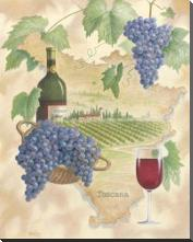 Toscana - Bella Vino art print poster with block mounting