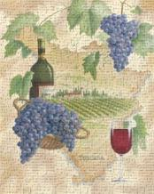 Toscana - Bella Vino art print poster transferred to canvas