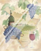 Toscana - Bella Vino art print poster with laminate