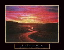 Challenge - Road art print poster transferred to canvas