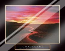 Challenge - Road art print poster with laminate