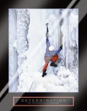 Determination - Ice Climber art print poster with laminate