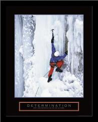 Determination - Ice Climber art print poster with simple frame
