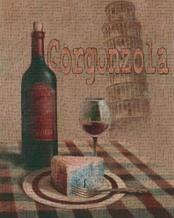Gorgonzola - Pisa art print poster transferred to canvas