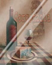 Gorgonzola - Pisa art print poster with laminate