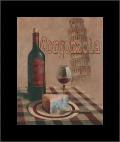 Gorgonzola - Pisa art print poster with simple frame