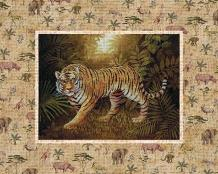 Safari - Tiger art print poster transferred to canvas