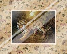 Safari - Tiger art print poster with laminate