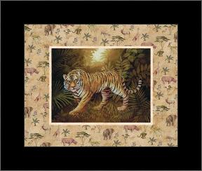 Safari - Tiger art print poster with simple frame