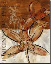 Rusty Orchid I art print poster with block mounting