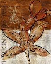 Rusty Orchid I art print poster transferred to canvas