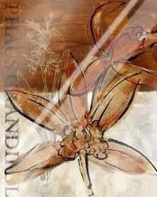 Rusty Orchid I art print poster with laminate