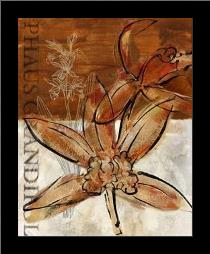 Rusty Orchid I art print poster with simple frame