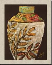 Sumach Leaf Pottery art print poster with block mounting