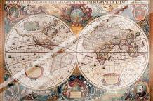 Antique Map - Geographica, Ca 1630 art print poster with laminate