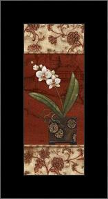 Geisha Garden II - Petite art print poster with simple frame