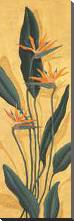 Bird Of Paradise art print poster with block mounting