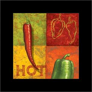Chili III art print poster with simple frame