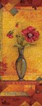 Bud Vase I - Mini art print poster transferred to canvas