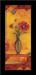 Bud Vase I - Mini art print poster with simple frame
