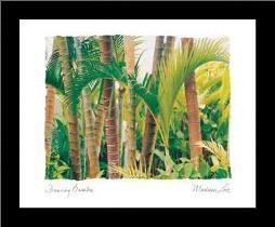 Dancing Bamboo art print poster with simple frame