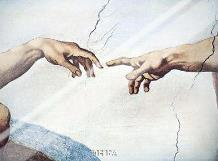 Hands Of God And Man art print poster with laminate