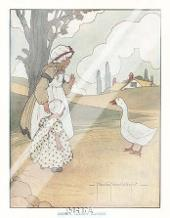 Goosey, Goosey, Gander art print poster with laminate