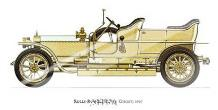 Rolls-Royce (Silver Ghost) 1907 art print poster with laminate