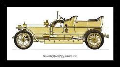 Rolls-Royce (Silver Ghost) 1907 art print poster with simple frame