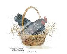 Chicken In A Basket art print poster with laminate
