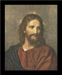 Christ At Thirty-Three art print poster with simple frame