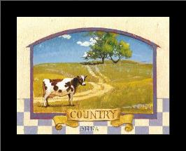 Country art print poster with simple frame
