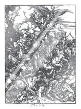 Four Horsemen Of The Apocalypse art print poster with laminate
