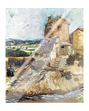 Old Mill art print poster with laminate