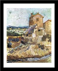 Old Mill art print poster with simple frame