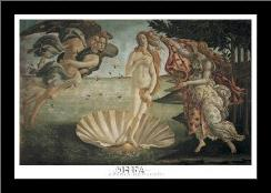 Birth Of Venus art print poster with simple frame
