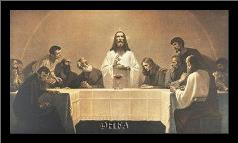 Last Supper art print poster with simple frame