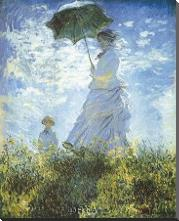 Madame Monet And Her Son art print poster with block mounting