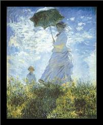 Madame Monet And Her Son art print poster with simple frame