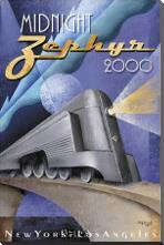 Midnight Zephyr 2000 art print poster with block mounting