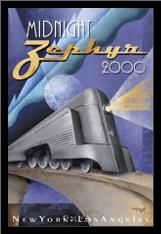 Midnight Zephyr 2000 art print poster with simple frame