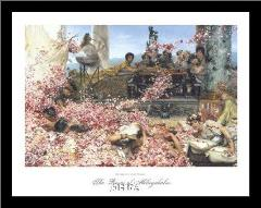 Roses Of Heliogabalus art print poster with simple frame