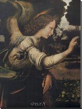 Angel (Detail From The Annunciation) art print poster with block mounting
