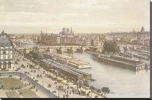 View Of The Seine From The Louvre art print poster with block mounting