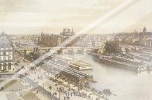 View Of The Seine From The Louvre art print poster with laminate